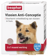 Vlooien Anti-Conceptie hond 6,7 tot 20kg 3 tabletten