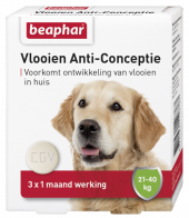 Vlooien Anti-Conceptie hond vanaf 21kg 3 tabletten