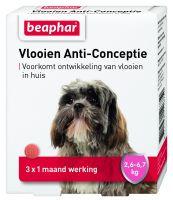 Vlooien Anti-Conceptie hond 2,6 tot 6,7kg 3 tabletten