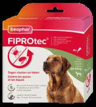 Fiprotec Spot-On hond 20-40kg 3+1 pipetten
