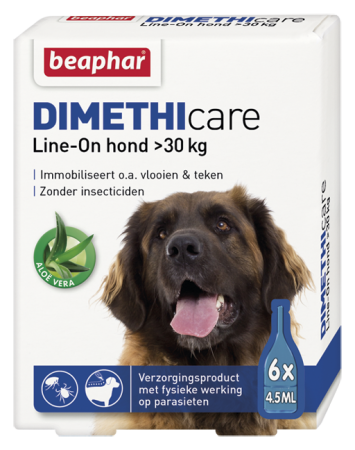 Dimethicare Line On Extra Large Dog - 6 vials - NL