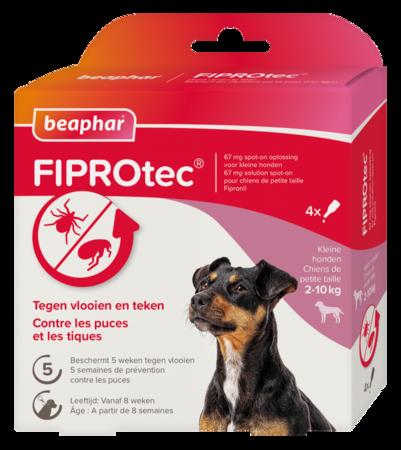 Beaphar Fiprotec Spot-On Hond 2-10kg 3+1 pipetten