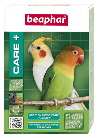 CARE+ Medium- and Large-Sized Parakeets - 500g - Dutch/French/English/German/Spanish