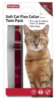 Beaphar Soft Cat Flea Collar Velvet - Twin Pack Red