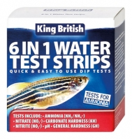 King British 6 in 1 Water Test Strips