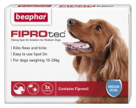 Beaphar FIPROtec® Spot on Solution for Medium Dogs