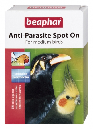 Beaphar Anti-Parasite Spot On – for medium birds (Parakeet