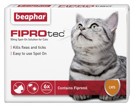 FIPROtec Spot On Cat - 6 Vials - English