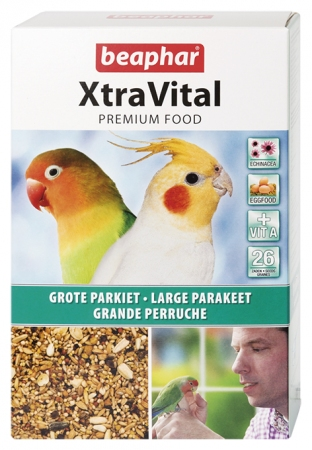 XtraVital Large Parakeet Feed - 1kg - Dutch/French/English/Greek/Norwegian