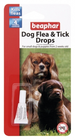 Beaphar Dog Flea Tick Drops Small Dogs