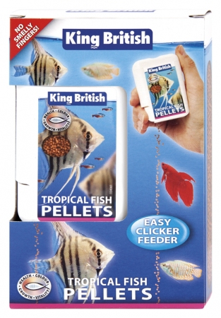King British Tropical Fish Pellets Easy Clicker Feeder