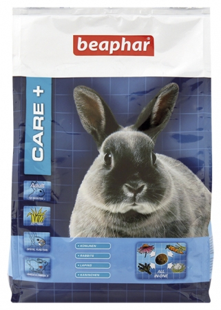 CARE+ Extruded Rabbit Food - 1,5kg - English/French/Dutch/German/Spanish/Italian/Greek/Norwegian