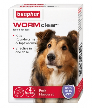 Beaphar WORMclear® Tablets for Dogs (up to 40kg)