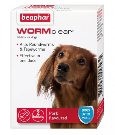 WORMclear tablets for Small Dogs - English