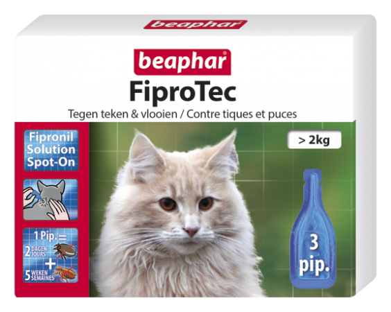 FIPROtec Spot On Cat - 3 Vials - Dutch/French