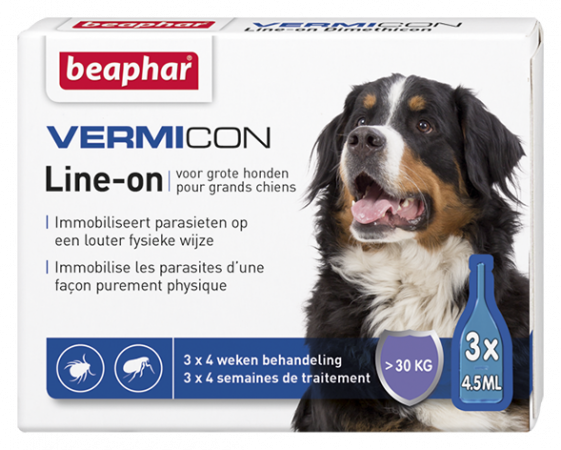 Vermicon Line On Extra Large Dog - 3 vials - NL/FR