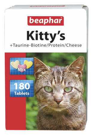 Kitty's Mix + Taurine-Biotine / Protein / Cheese - 180 tabs - English/Polish/Bulgarian/Romanian
