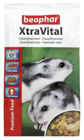 XtraVital Dwarf Hamster Feed - Dutch/French/English/German/Spanish/Portuguese/Italian/Greek