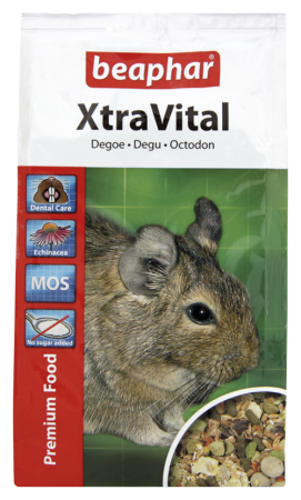 XtraVital Degu Feed - 500g - Dutch/French/English/German/Spanish/Portuguese/Italian/Greek
