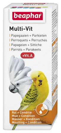 Multi Vit for Parrots and Large Parakeets - 50ml - Dutch/French/English/German