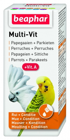 Multi Vit for Parrots and Large Parakeets - 20ml - Dutch/French/English/German