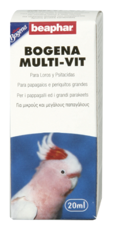 Multi Vit for Parrots and Large Parakeets - 20ml - Spanish/Portuguese/Italian/Greek