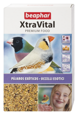 XtraVital Tropical Bird Feed - 500g - Spanish/Portuguese/Italian/Russian/Czech