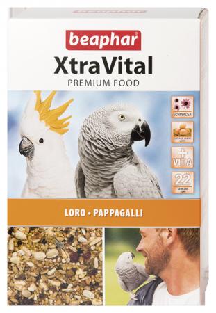 XtraVital Parrot Feed - 1kg - Spanish/Portuguese/Italian/Russian/Czech