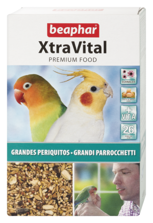 XtraVital Large Parakeet Feed - 500g - Spanish/Portuguese/Italian/Russian/Czech