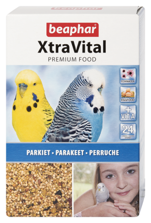 XtraVital Parakeet Feed - 500g - Dutch/French/English/Greek/Norwegian