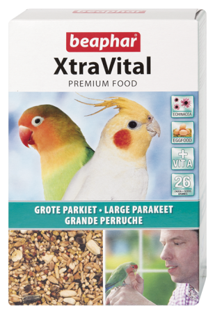 XtraVital Large Parakeet Feed - 500g - Dutch/French/English/Greek/Norwegian