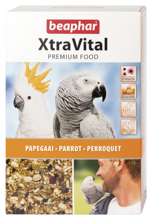XtraVital Parrot Feed - 1kg - Dutch/French/English/Greek/Norwegian