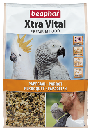 XtraVital Parrot Feed - 2.5kg - NL/FR/GB/DE/ES/PT/IT/GR/NO/PL/RU/CZ