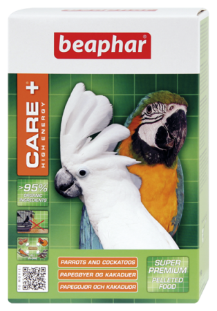 CARE+ High Energy for Parrots and Cockatoos - 1kg - Dutch/French/English/German/Spanish