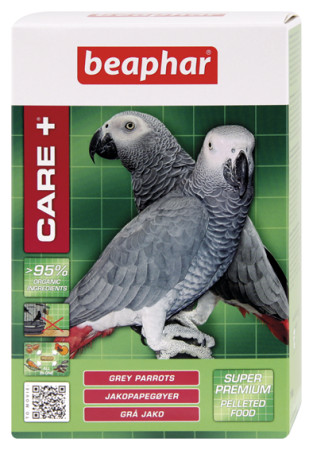 CARE+ Grey Parrots - 1kg - Dutch/French/English/German/Spanish
