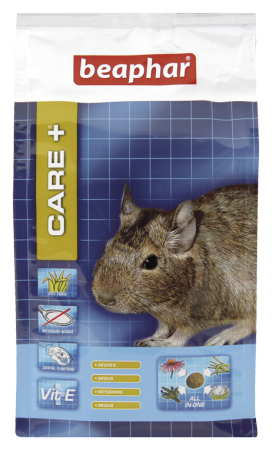 CARE+ Extruded Degu Food - 250g - Dutch/French/English/German/Spanish/Italian/Greek/Norwegian