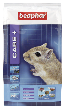 CARE+ Extruded Gerbil Food - 250g - Dutch/French/English/German/Spanish/Italian/Greek/Norwegian