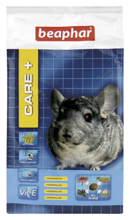 CARE+ Extruded Chinchilla Food - 250g - Dutch/French/English/German/Spanish/Italian/Greek/Norwegian