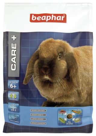 CARE+ Extruded Senior Rabbit Food - 1.5kg - Dutch/French/English/German/Spanish/Polish/Norwegian