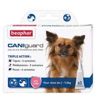 CANIguard, pipettes antiparasitaires petit chien (2-7,5kg)