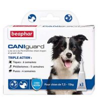 CANIguard, pipettes antiparasitaires chiens moyens (7,5-15 kg)