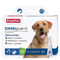 CANIguard, pipettes antiparasitaires grand chien (15-30kg)
