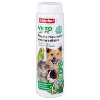 Poudre répulsive antiparasitaire pour chien, chat, oiseau et rongeur