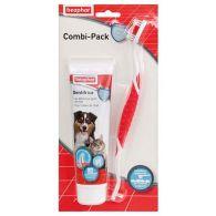 Combi-Pack pour chien et chat : dentifrice + brosse à dents