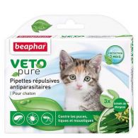 Pipettes répulsives antiparasitaires chaton