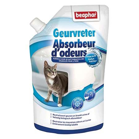granul s absorbeur d 39 odeurs pour la liti re du chat beaphar. Black Bedroom Furniture Sets. Home Design Ideas