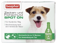 Zecken- und Flohschutz SPOT-ON für kleine Hunde (bis 15kg)