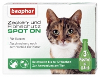 Zecken- und Flohschutz SPOT-ON für Katzen