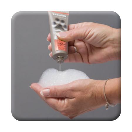 Premium Shampoo Fellglanz - Anwendung