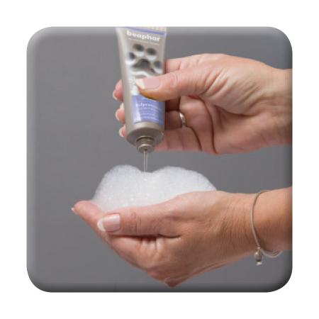 Premium Shampoo Welpentraum - Anwendung